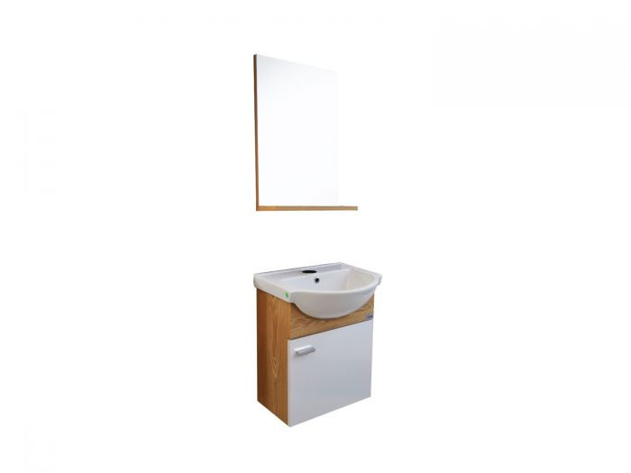 Dore Life Livana Wall Hung Cabinet and Mirror With Shelf - 450 x 400 x 550mm